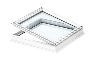 VELUX - CVP 090120 0673QV - Elec. flat roof window, laminated inner pane, PVC construction, 90x120