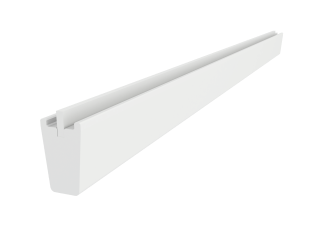 VELUX - EBY W35 2000 - White veneer support trimmer for 18 mm gap, 350cm