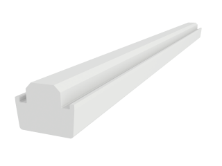 VELUX - EKY W20 2000 - White veneer support trimmer for 100 mm gap, 200cm