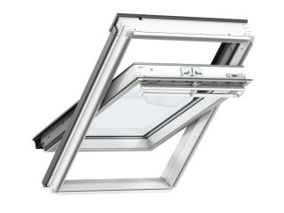 VELUX - GGL CK02 2060 - White-Painted Pine, Centre-Pivot,triple glazed, anti-dew, 55x78