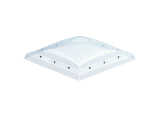 VELUX - ISD 100100 0010 - Clear PC dome top for FRW, scratch resistant, 0-15 degrees,100x100