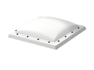 VELUX - ISD 150150 0110 - Opaque PC dome top for FRW, scratch resistant, 0-15 degrees,150x150